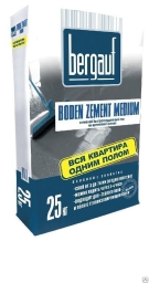 Ровнитель цементный Bergauf Boden zement gross, 25кг. (МН, толщ. 6-50мм, расх. 1,8-2,0кг/м2, проч. М200)